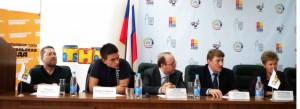 На пресс-конференции в Министерстве по делам молодежи, спорту и туризму Республики Татарстан.